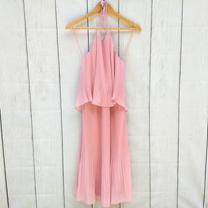 H by Halston pink pleated dress